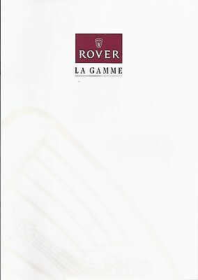Catalogue ROVER Gamme 1997 - 12 pages - 07/1997