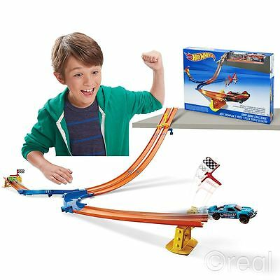 New Hot Wheels Drop Down Challenge Track Set & 2 Cars CDM43 Mattel Official