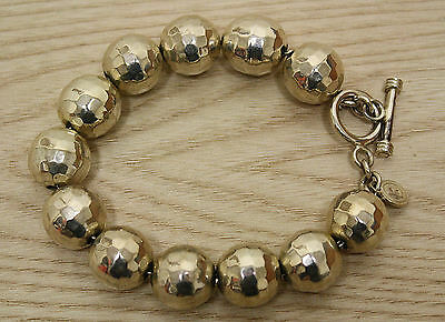 Mexico Sterling Silver Disco Ball Toggle Bracelet!