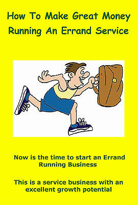 How To Make Great Money Running An Errand Service + Much More on CD Rom