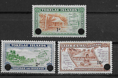 / Tokelau Islands , New Zealand, 1967 , Set Of 3 Stamps O.p. & R.v. , Perf , Mnh