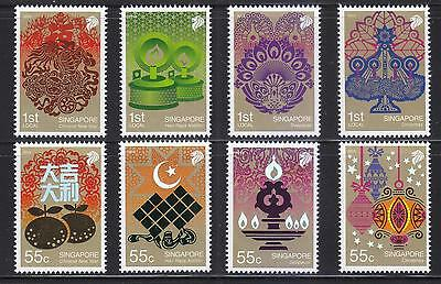 Singapore 2010 Festivals Of S'pore Comp. Set Of 8 Stamps In Mint Mnh Unused