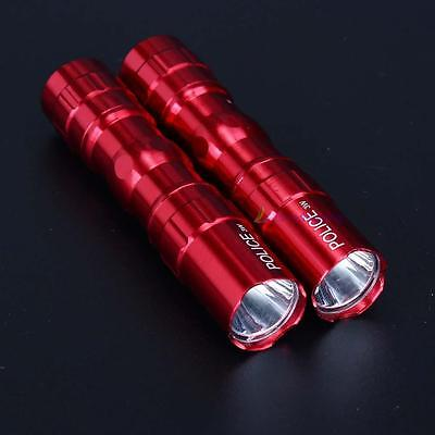 2Pcs 3W police étanche Ultra Bright LED Mini lampe torche camping-Rouge DC