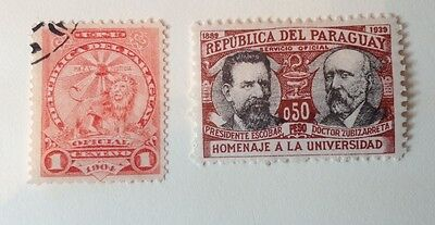 PARAGUAY. Official (1904-) Plus 1933 Anniversary of Asuncion University.
