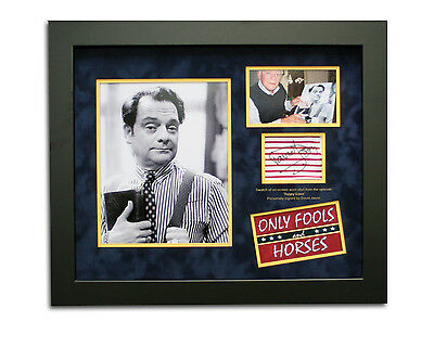 David Jason Only Fools and Horses Signed Shirt Swatch