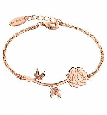 Official Rose Gold Plated Beauty & The Beast Rose Bracelet from Disney Couture