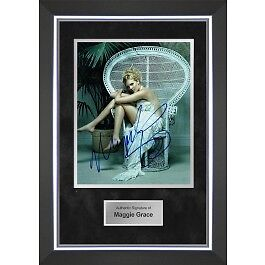 Maggie Grace Signed Framed Photo Display