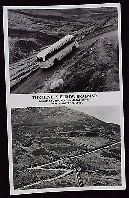 Nice Vintage Multiview Real Photo Postcard The Devil's Elbow, Braemar, Scotland