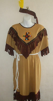 New Native Indian Squaw Costume 16-18-20+ Fancy dress Western Book Day BNWT