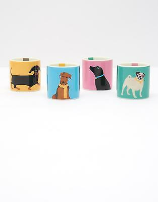 Joules Dippy Set Of Four Egg Cups in Dogs in One Size