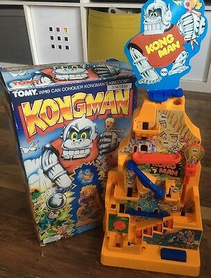 Tomy KongMan boxed vintage working electronic game with ball