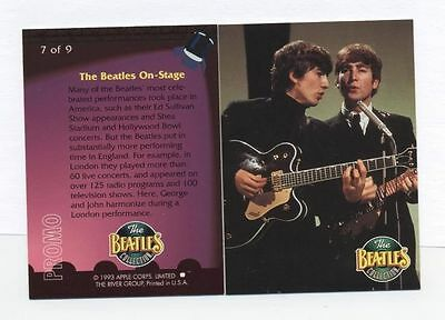 The Beatles Collection 1993 PROMO CARD -7 0f 9 The River Group