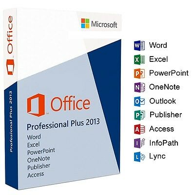 Genuine Microsoft Office 2013 Professional Plus Windows for 1PC Lifetime Key
