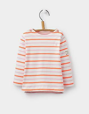 Joules Baby Girls Harbour Luxe Top from Cotton with Long Sleeves in Multi Stripe