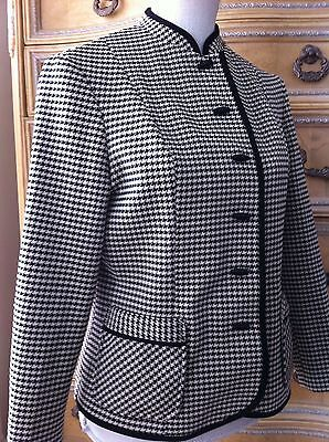 60s 70s True Vintage Gutmacher Houndstooth Double Knit Career Wear Jacket Blazer
