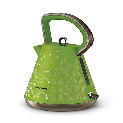 Morphy Richards Prism Kettle Green Cordless 1.5L 3000W 2 Year Warranty 108105