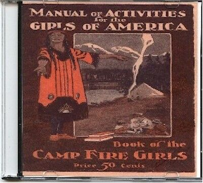 1920 Camp Fire Girls manual of Activities for the Girls of America on CD, NY,NY