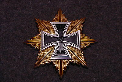 German Wwi Medal Star Of The Grand Cross Of The Iron Cross   - Repaired Hinge