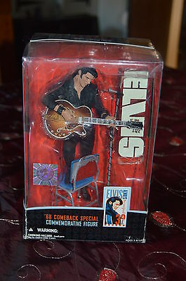 mcfarlane toys elvis 68 comeback special collectable figure in box with ticket