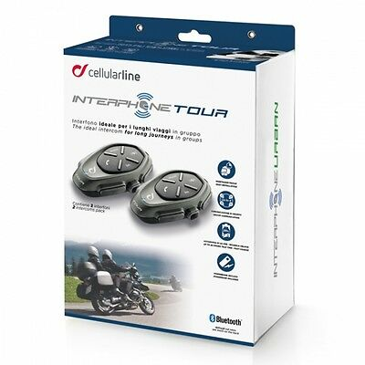 Interphone Tour Twin Headset Pack Bluetooth Motorcycle Intercom