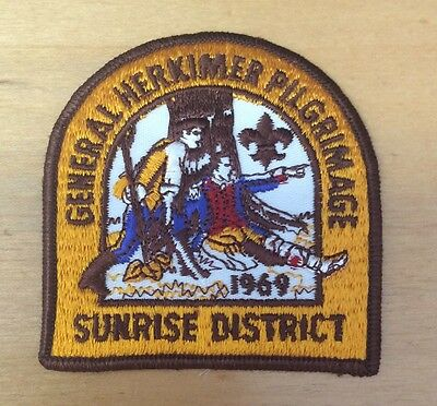 Boy Scouts General Herkimer Pilgrimage 1969 Sunrise District  Patch  New