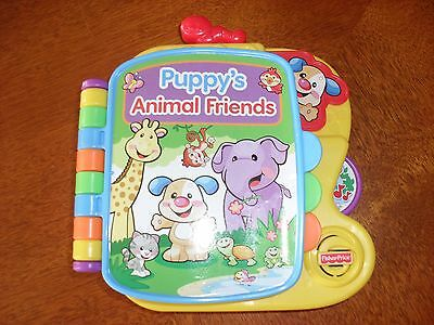 Fisher Price Puppy's Animal Friends Talking Musical Book
