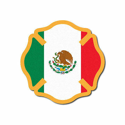 3M Reflective Fire Helmet Decal - Mexico Flag Maltese