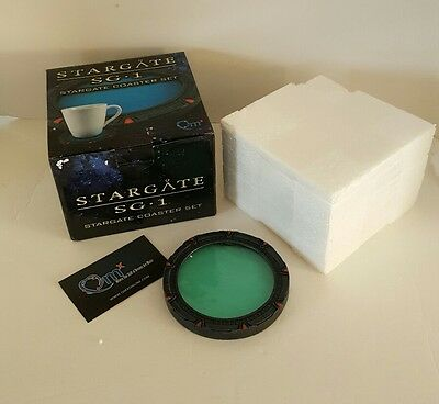 STARGATE SG-1 Glyph Coaster Set of 4 New In Box QMX Rare