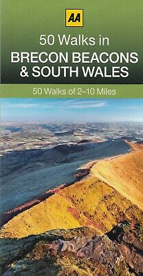 50 Walks in Brecon Beacons and South Wales by the AA (Paperback) New Book