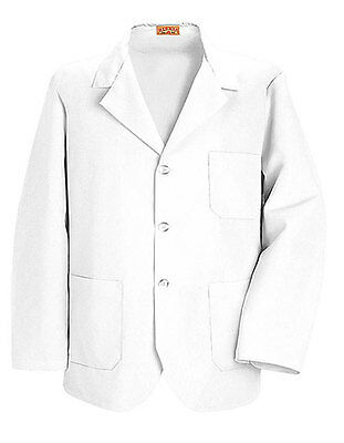 Red Kap Unisex Short White Lab Coat for Research, Medical, Pharmacy Students XS