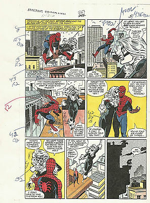 ONE OF A KIND Spiderman Color Editing Proof Comic #263 Hand Written