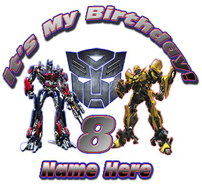 Transformers Optimus Prime and Bumblebee Personalized Favor Birthday New Gift