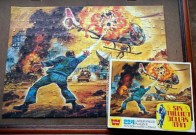 Vintage Six Million Dollar Man Jigsaw Complete 224 pieces and Box