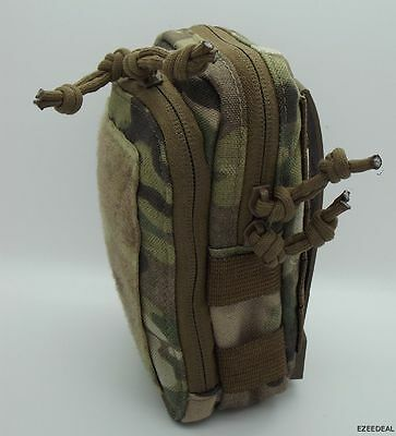 "MSM  Stealth Compact Pouch + TWO 5"" Malice Clips. Multicam. USA Made"