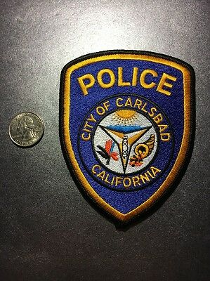 Carlsbad California Police Department Patch Ca