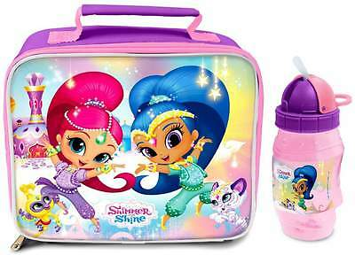Shimmer and Shine Lunch Bag/Box and Flip 'n' Sip Bottle (352ml) | Lunchbox