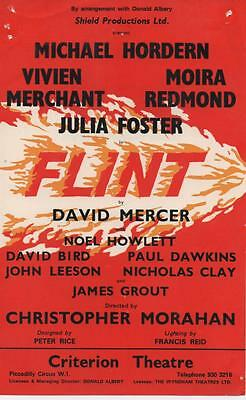 1970 Theatre Flyer - Flint at The Criterion Theatre London (Michael Hordern)