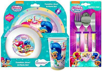 Shimmer and Shine 6-Piece Dinner Set   Tumbler, Plate, Bowl and Cutlery