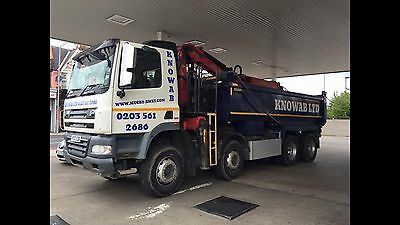 DAF CF 85 Grab Tipper Lorry Epsilon Crane