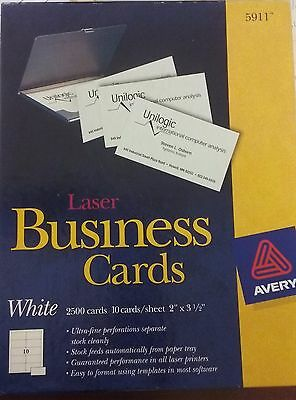 Avery Laser Business Cards (White) #5911