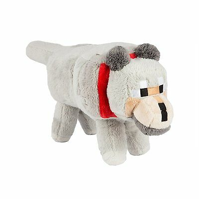 """Minecraft 15"""" Wolf Plush with Hang Tag Stuffed Animal Gamer Toy New with Tags"""