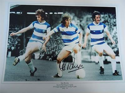 Signed 16x12 Photo Montage Stan Bowles QPR  Proof COA