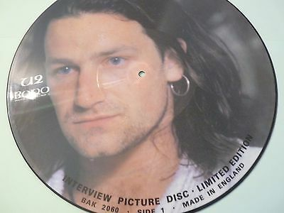 "U2 Interview Picture Disc - 12"" Limited Edition BAK 2060  Bono"
