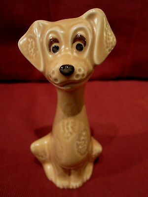 Wonderful 1950's Sylvac Tan Coloured Comical Dog Figurine Model 5294