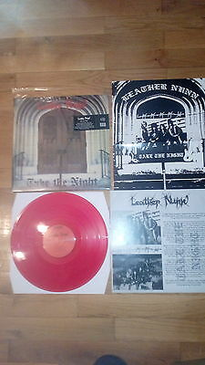 Leather Nunn - Take the night Lp red vinyl + poster official usa press free post