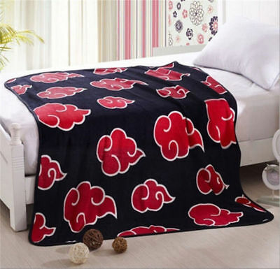 "Anime Naruto Akatsuki Warm Soft Coral Fleece Throw Blanket Plush Printed 59""X47"""