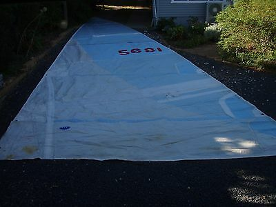 Spectra racing mainsail 10mm rope luff 12.9 x 4.8m 4 battens included 2 reefs