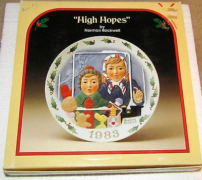"Norman Rockwell - ""High Hopes"" Limited Edition 1983 8 1/2"" Christmas Plate"