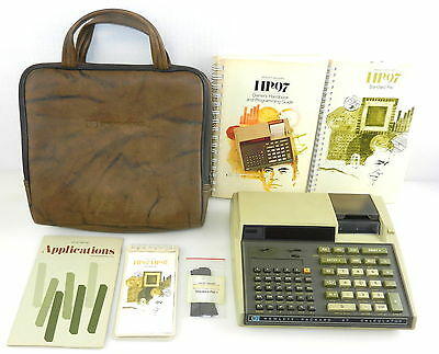 Hewlett Packard HP 97 Programmable CALCULATOR With Leather Case & Manuals