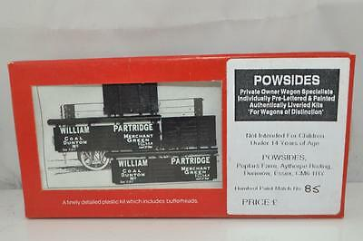 "SLATERS / POWSides 360 4mm "" William Partridge.""Private Owner Wagon Kit"